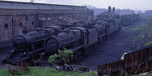LMS Stanier Class 8F - End of the line: withdrawn 8Fs in spring 1968 at Newton Heath, Manchester awaiting scrapping