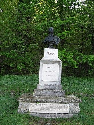 Kapuzinerberg - A memorial place for Wolfgang Amadeus Mozart.