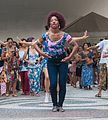 Woman dancing african dance in the street, São Paulo downtown.jpg