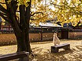 Woman wearing white, Gyeongbok Palace, Korea.jpg