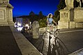 Woman with bicycle in Piazza del Campidoglio, Rome - 2537.jpg