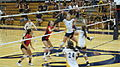 Women's volleyball, Fresno State at Cal 2010-09-11 9.JPG