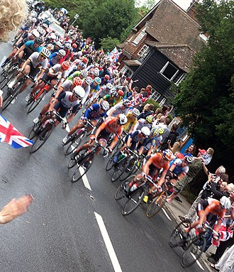Cycling at the 2012 Summer Olympics – Women's individual road race - Image: Womensbikerace 2012