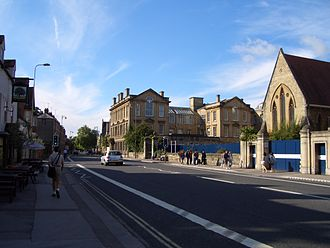 Woodstock Road, Oxford - Woodstock Road, looking south near the former Radcliffe Infirmary.