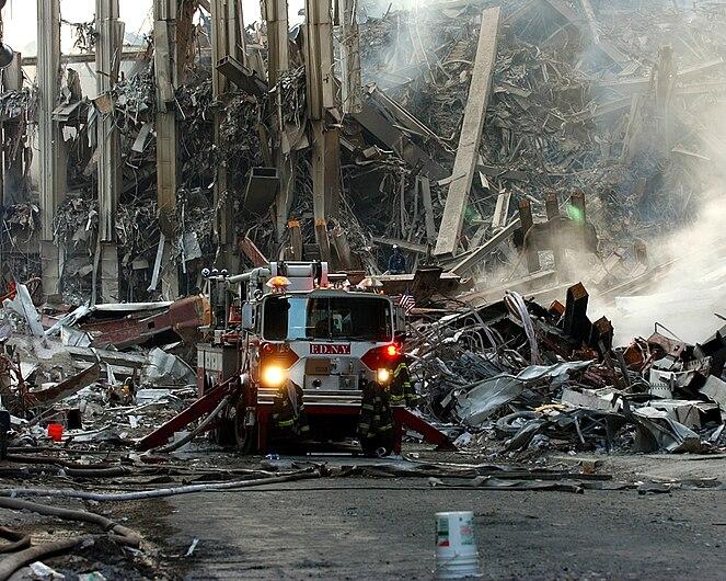 World Trade Center collapsed following the Sept. 11 terrorist attack September 16 2001.jpg