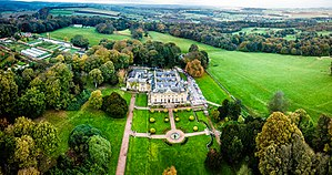Wortley Hall - Aerial view of Wortley Hall and surroundings.