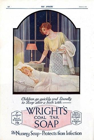Wright's Coal Tar Soap - 1922 magazine advert