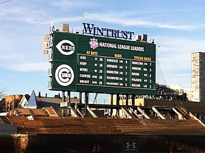 Wrigley Field renovations - 3,990-square-foot videoboard overlooking left field bleacher seats