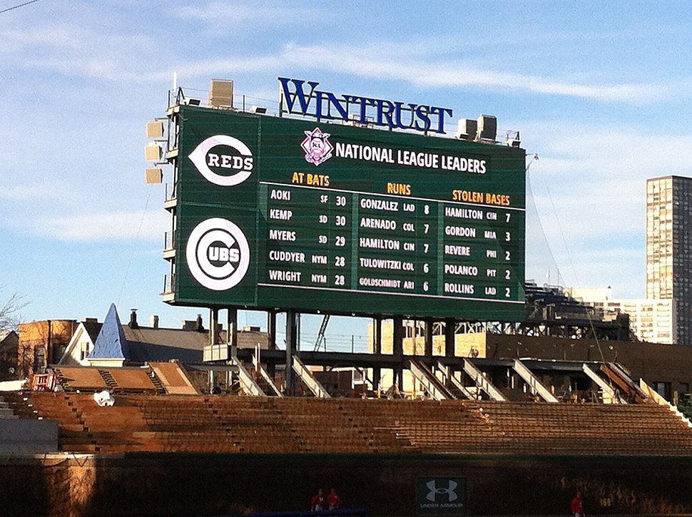 Wrigley Field Renovation-Left Field Scoreboard
