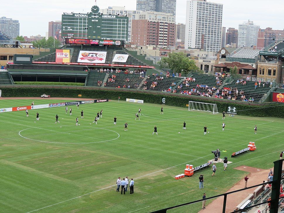Wrigley Field configured for soccer