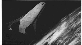 Rockwell X-30 - An artist's concept of the X-30 in orbit.