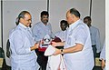 Y.S. Rajasekhara Reddy felicitating the Union Minister of Consumer Affairs, Food and Public Distribution and Agriculture, Shri Sharad Pawar at the inauguration of the Scheme for Distribution of Subsidised Edible Oils.jpg