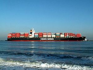 YM Green p3 approaching Port of Rotterdam, Holland 09-Jan-2006.jpg