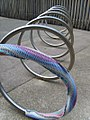Yarn bomb - bike stand (5521491194).jpg