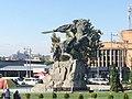 Yerevan Railway Station 2019 - Statue David of Sassoun.jpg