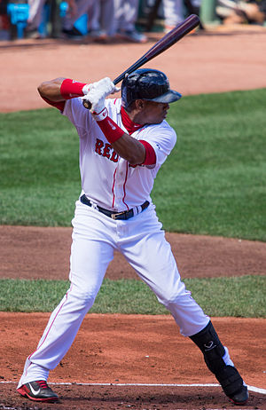 Yoenis Céspedes - Céspedes batting for the Boston Red Sox in 2014