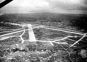 Yontan Airfield - Image: Yontan airfield 1945