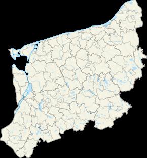 Старгард на карте