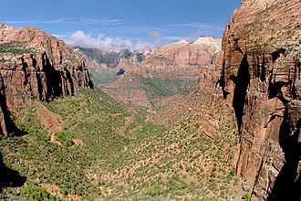 Western United States - Zion National Park in southern Utah is one of five national parks in the state.