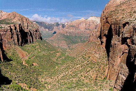 Zion National Park in southern Utah is one of five national parks in the state. Zion NP20.jpg