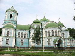 The Sviato-Uspenskyi Cathedral in Zolotonosha.