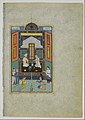 """Bahram Gur in the White Palace on Friday"", Folio 235 from a Khamsa (Quintet) of Nizami MET DP164649.jpg"