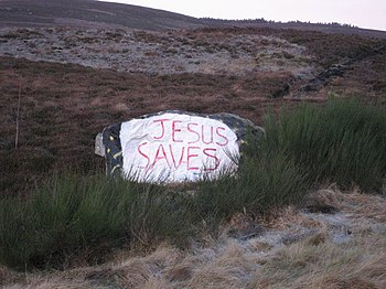 "English: ""Jesus Saves"" A frequently ..."