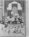"""Laila and Majnun in School"", Folio 129 from a Khamsa (Quintet) of Nizami MET 187669.jpg"
