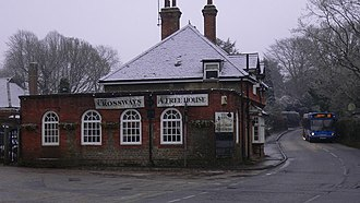 "Churt - Image: ""The Crossways Inn"" at Churt geograph.org.uk 1622061"