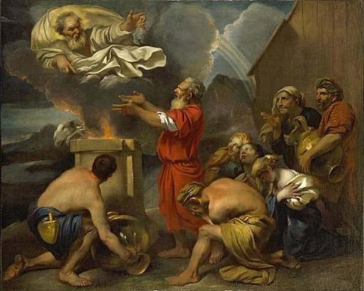 'Noah's Offering', oil on canvas painting attributed to Francesco Castiglione, El Paso Museum of Art