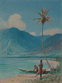 'On the Beach, Leeward Oahu' by D. Howard Hitchcock, 1925.JPG