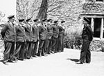 'demob' Farewell at Royal Naval Air Station, Henstridge, Somerset, 18 June 1945 A29287.jpg