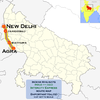 (Agra - New Delhi) Intercity Express route map.png