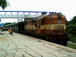 Diesel Loco Shed, Pune - An old WDG-3A loco from Pune Loco Shed