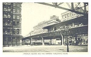 Franklin Square (IRT Third Avenue Line) - Image: (King 1893NYC) pg 636 FRANKLIN SQUARE AND THE HARPERS' PUBLISHING HOUSE