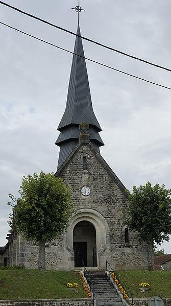 Vue de l'église Souain