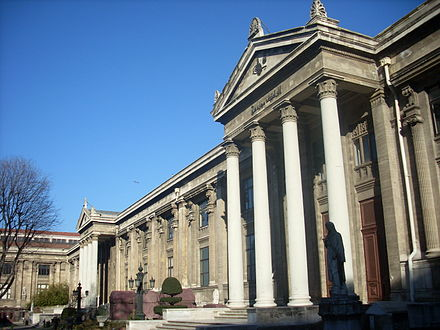 The Istanbul Archaeology Museums, founded by Osman Hamdi Bey in 1891, form Turkey's oldest modern museum. İstanbul Arkeoloji Müzeleri (ana bina, Arkeoloji Müzesi) - Mart 2013.JPG