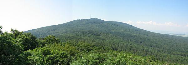 Ślęża (widok z Wieżycy). Fot. Wikimedia Commons, autor: Adam Dziura, lic. CC BY-SA 3.0.
