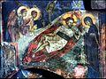Μονή Ιωάννου Προδρόμου κοντά στις Σέρρες. Χριστός Αναπεσών, τοιχογραφία των ετών 1358-1364.jpg