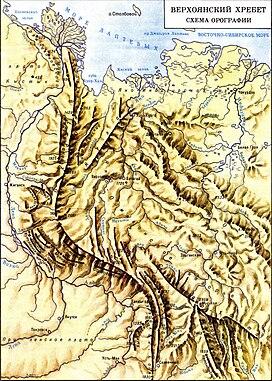 Карта восхождения на хребет боруссия