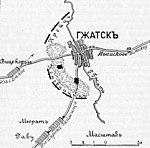 Карта к статье «Гжатск». Военная энциклопедия Сытина (Санкт-Петербург, 1911-1915).jpg