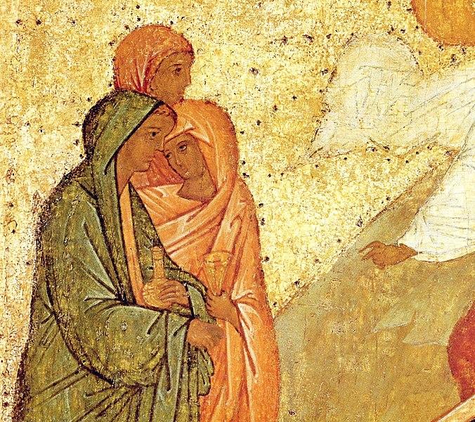 File:Святые жены-мироносицы. Фрагмент иконы. 1497 год.jpg