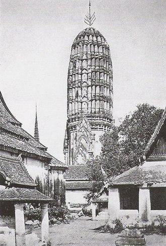 History of Phitsanulok Province - Historic photograph of Wat Phra Sri Rattana Mahathat