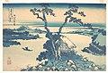冨嶽三十六景 信州諏訪湖-Lake Suwa in Shinano Province (Shinshū Suwako), from the series Thirty-six Views of Mount Fuji (Fugaku sanjūrokkei) MET DP140970.jpg