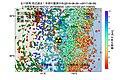 女川原子力発電所周辺の過去1年間の地震の震源分布と地殻変動.jpg