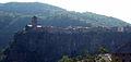 06 Castellfollit de la Roca i la cinglera basàltica des de la carretera GI-522.jpg