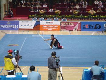 فيديو كامل تعليمي لاسلوب العصا الجنوبي في الووشو كونغ فو 350px-10th_all_china_games_Nangun_1643