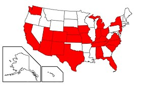 Congressional Constitution Caucus - A map of Caucus member states as of the 115th Congress.