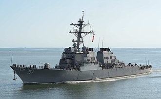Arleigh Burke-class destroyer - Image: 130920 N NX070 025 USS Arleigh Burke (DDG 51)