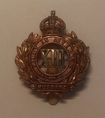 13th Hussars Cap Badge